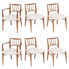 Set of six Mid-Century Modern Dining Chairs by Edward Wormley for Dunbar
