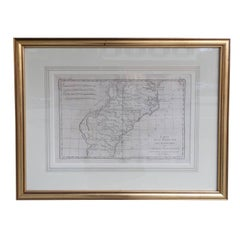 A Rare French Engraved Map of The Southeastern United States. R.Bonne Circa 1780