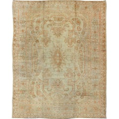 Large Antique Oushak Carpet