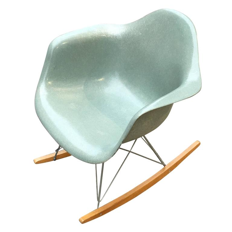 eames rocking chair green. seafoam green herman miller eames rar 1 rocking chair
