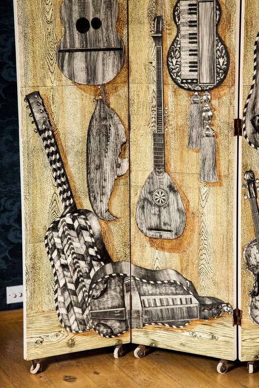 1950s \'Strumenti Musicali\' Screen by Piero Fornasetti For Sale at ...