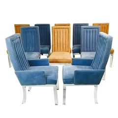 Set of Ten Charles Hollis Jones Lucite Dining Chairs