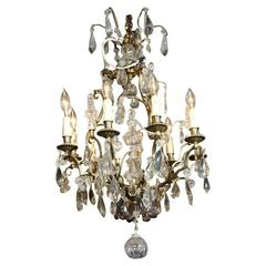 Decorative Iron And Crystal Ship Chandelier At 1stdibs