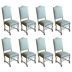Set of Eight Antique Os Du Mouton Chairs