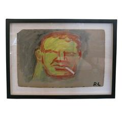 Robert Loughlin Painting, Initialed