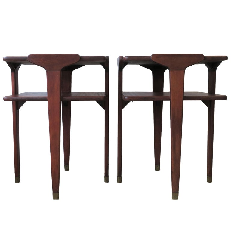 Pair Midcentury End or Night Stand Tables For Sale