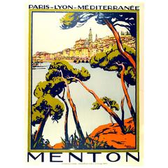 Original Broders Travel Poster for Menton