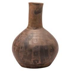 Pre-Contact Native American Engraved Ceramic Bottle