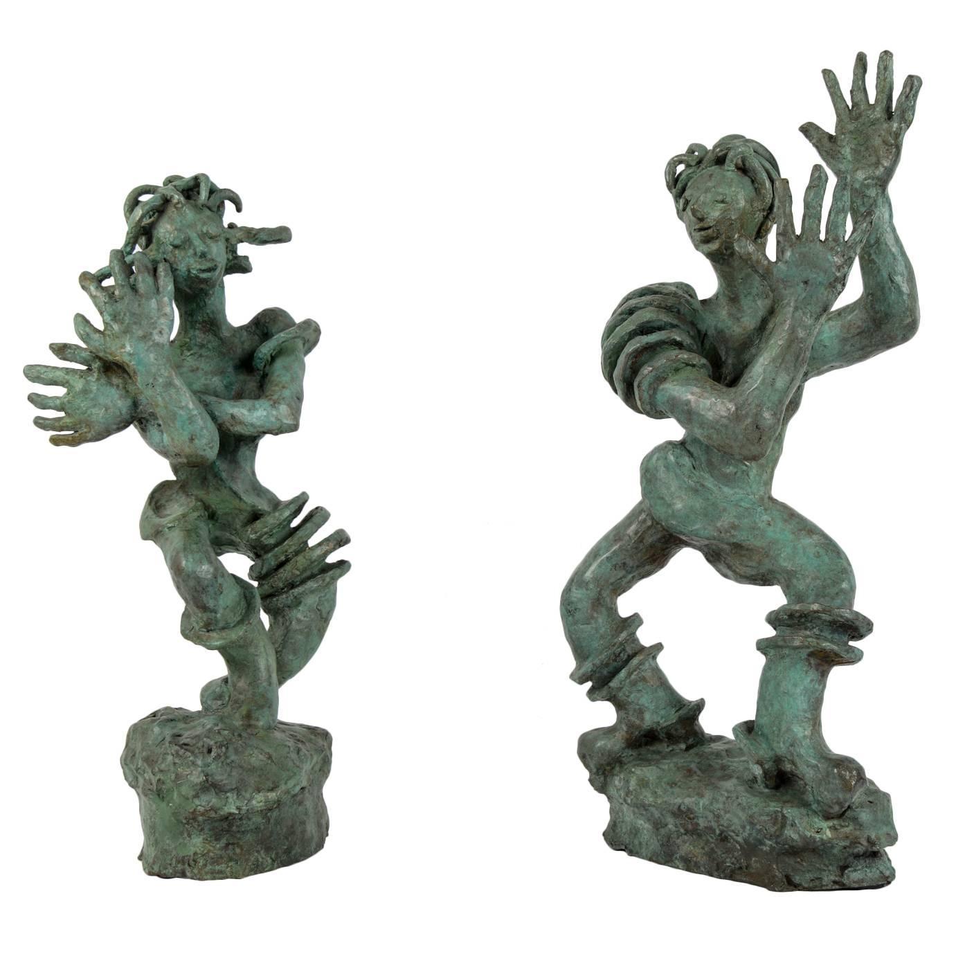 Germaine Nordmann Bronze Sculptures, circa 1940
