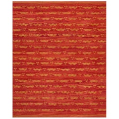 21st Century Red/Rust Iranian Kilim Carpet, 10.03x12.11