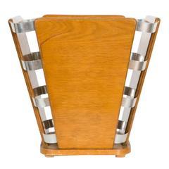 Art Deco Waste Paper Basket by Jacques-Emile Ruhlmann