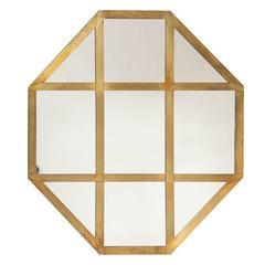 Octagonal Brass Mirror