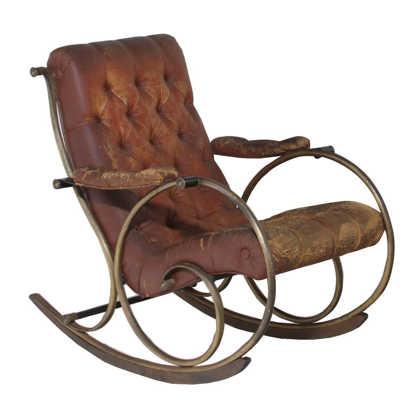 Pair Of Sculptural Rocking Chairs By Lee Woodard At 1stdibs. Full resolution  pic, nominally Width 1416 Height 1416 pixels, pic with #8B6040.