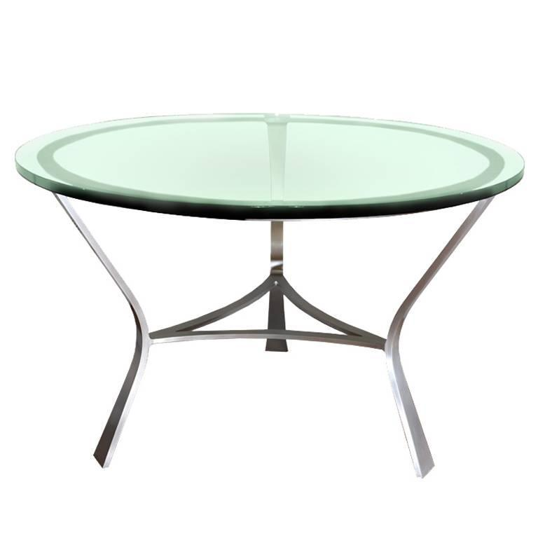 Glass Top Dining Table by John Vesey