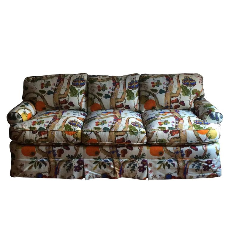 Custom sofa and loveseat in josef frank fabric for sale at for Fabric sofas for sale