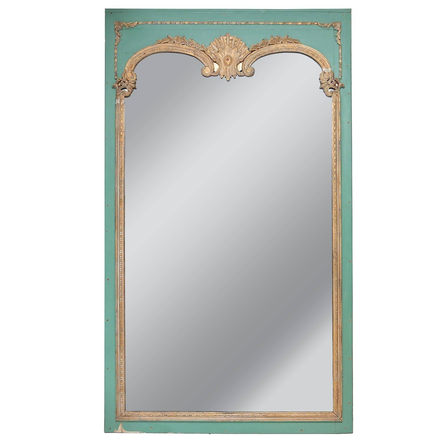 Oversize decorative theme park mirror at 1stdibs for Fancy floor mirrors