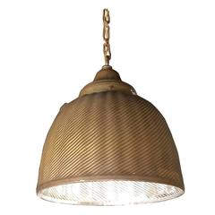 Painted Gold X-Ray Mercury Glass Industrial Pendant Light