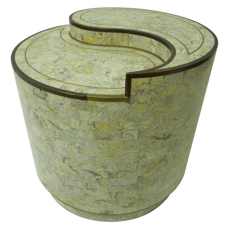 Maitland smith stone and brass yin yang table at 1stdibs for Table yin yang