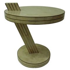 Stone and Brass Eclipse Side Table by Casa Bique