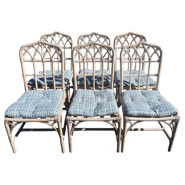 Mcguire Bamboo Chinese Chippendale Chairs For