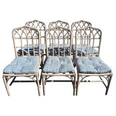 McGuire Bamboo Chinese Chippendale chairs