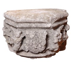Rare 16th Century Architectural Stone Capital from France