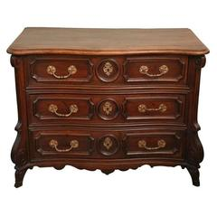 Walnut French Commode Mazarine Late 17th Century