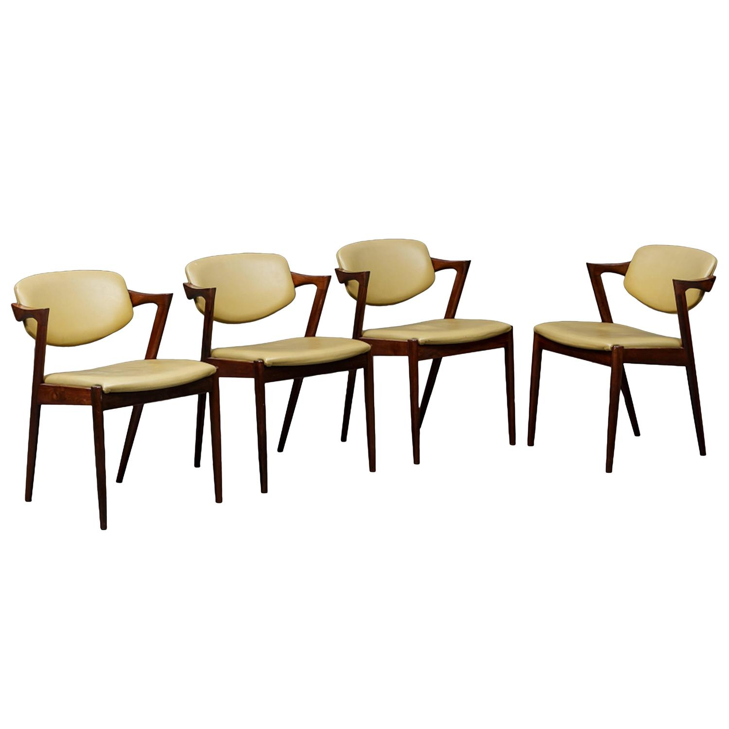 Four kai kristiansen rosewood dining chairs at 1stdibs - Kai kristiansen chairs ...