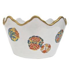 Japanese Kutani Porcelain Bowl or Jardiniere