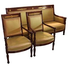 Period Directoire Settee and Armchairs