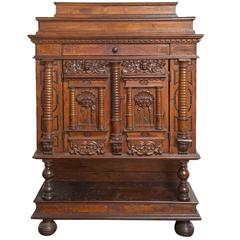 19th Century Baroque Revival Walnut Cabinet