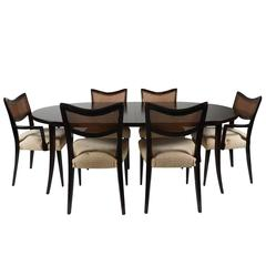 Harvey Probber Dining Suite Table Two Leaves And Six Chairs
