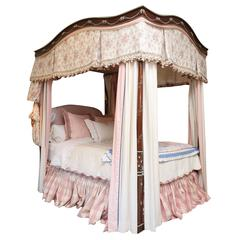 Julia Gray 4-Post Queen Bed