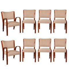 Extraordinary Suite of Dining Chairs by Steiner