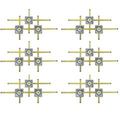 Italian Geometric Sconces by Sciolari