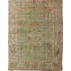 Antique Turkish Oushak Carpet