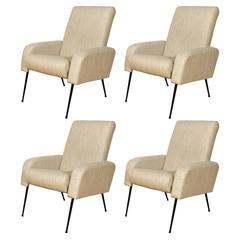 "Set of Four ""Airbone"" Style Armchairs"