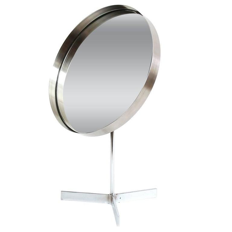 Chrome Adjustable Table Mirror