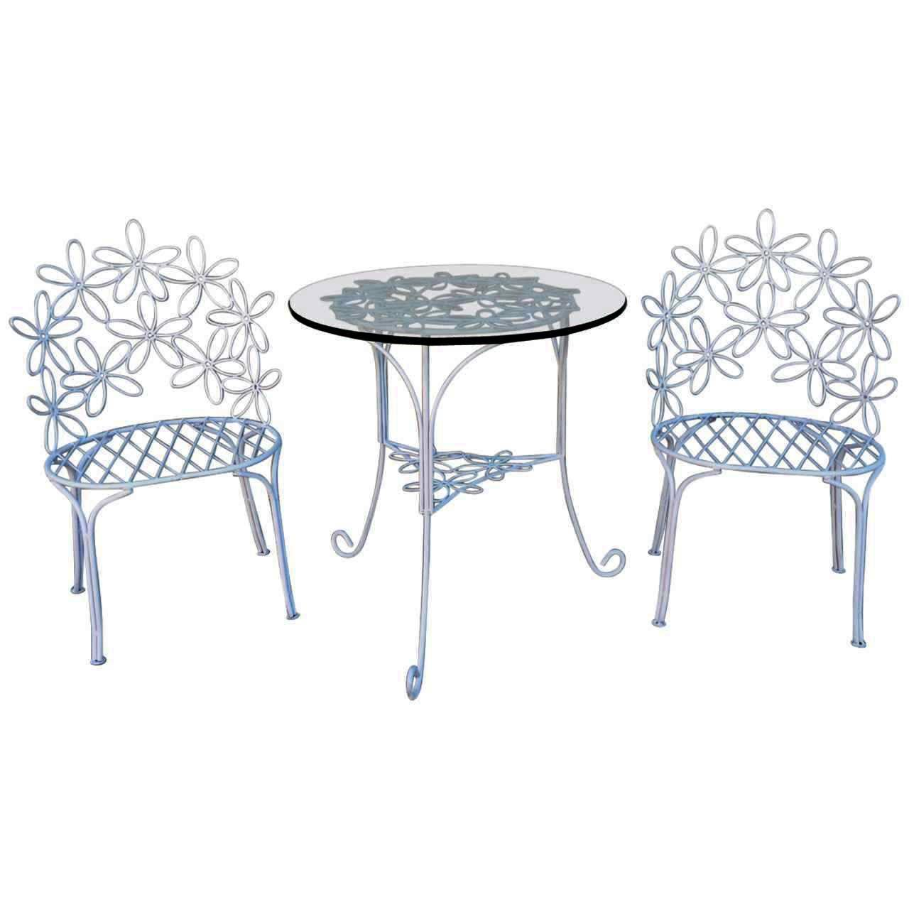 Charming wrought iron patio chairs and table for sale at for Patio table and chairs sale