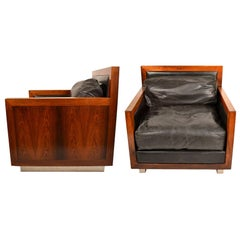 Rare Pair of  Rosewood Chairs by Edward F. Knowles