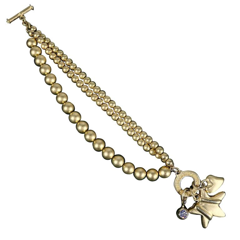 Fred Hayman Beverly Hills Toggle Charm Bracelet For Sale