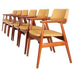 Set of Six Teak Dining Chairs by Erik Kirkegaard, 1960
