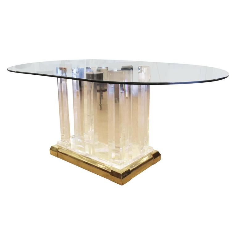 Lucite Dining Table in the Style of Jeffrey Bigelow For  : IMG2696editedorgl from www.1stdibs.com size 768 x 768 jpeg 21kB