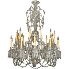 19th Century Baccarat 24-Arm Chandelier