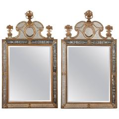Matched Pair of Swedish Mirrors after the Model by Burchard Precht