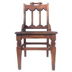 English Oak Hall Chair