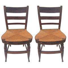 Pair of Balloon Seat Side Chairs, New York c.1820