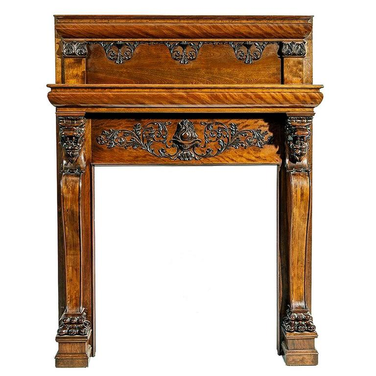 A Magnificent Antique Carved Fireplace Mantel For Sale At 1stdibs