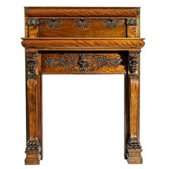 A Magnificent Antique Carved Fireplace Mantel
