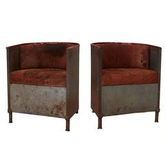 Pair of 'Iron/Mocca' Armchairs by Mats Theselius, circa 1994
